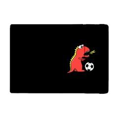 Black Cartoon Dinosaur Soccer Apple Ipad Mini Flip Case by CreaturesStore