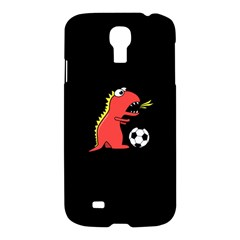 Black Cartoon Dinosaur Soccer Samsung Galaxy S4 I9500/i9505 Hardshell Case by CreaturesStore