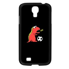 Black Cartoon Dinosaur Soccer Samsung Galaxy S4 I9500/ I9505 Case (black) by CreaturesStore