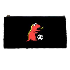 Black Cartoon Dinosaur Soccer Pencil Case by CreaturesStore