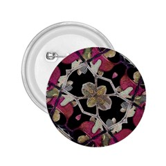 Floral Arabesque Decorative Artwork 2 25  Button by dflcprints