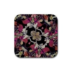 Floral Arabesque Decorative Artwork Drink Coaster (square) by dflcprints