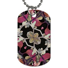 Floral Arabesque Decorative Artwork Dog Tag (one Sided) by dflcprints