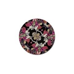 Floral Arabesque Decorative Artwork Golf Ball Marker 10 Pack