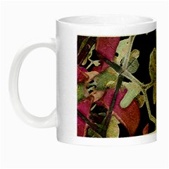 Floral Arabesque Decorative Artwork Glow In The Dark Mug by dflcprints