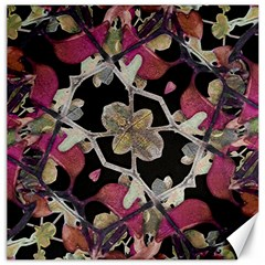 Floral Arabesque Decorative Artwork Canvas 12  X 12  (unframed) by dflcprints