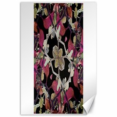 Floral Arabesque Decorative Artwork Canvas 24  X 36  (unframed) by dflcprints