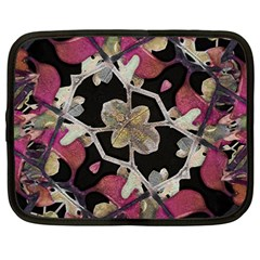 Floral Arabesque Decorative Artwork Netbook Sleeve (large) by dflcprints