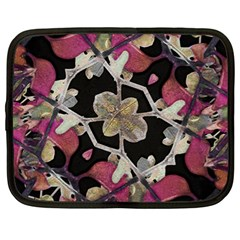 Floral Arabesque Decorative Artwork Netbook Sleeve (xl) by dflcprints