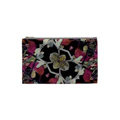 Floral Arabesque Decorative Artwork Cosmetic Bag (small) by dflcprints