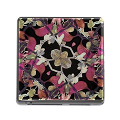 Floral Arabesque Decorative Artwork Memory Card Reader With Storage (square) by dflcprints