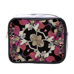 Floral Arabesque Decorative Artwork Mini Travel Toiletry Bag (one Side) by dflcprints