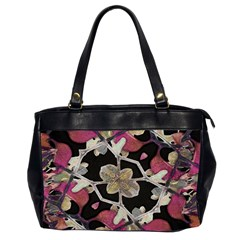 Floral Arabesque Decorative Artwork Oversize Office Handbag (two Sides) by dflcprints
