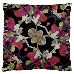 Floral Arabesque Decorative Artwork Large Cushion Case (two Sided)