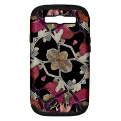 Floral Arabesque Decorative Artwork Samsung Galaxy S Iii Hardshell Case (pc+silicone)