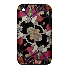 Floral Arabesque Decorative Artwork Apple Iphone 3g/3gs Hardshell Case (pc+silicone)