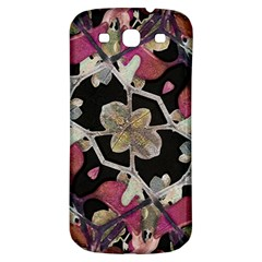 Floral Arabesque Decorative Artwork Samsung Galaxy S3 S Iii Classic Hardshell Back Case