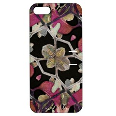 Floral Arabesque Decorative Artwork Apple Iphone 5 Hardshell Case With Stand