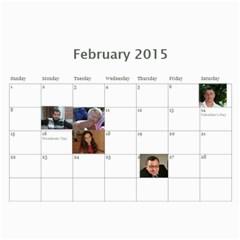 A By Tania   Wall Calendar 11  X 8 5  (18 Months)   K9sohy94ds2b   Www Artscow Com Feb 2015