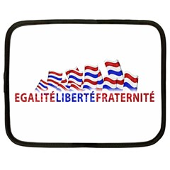 Bastille Day Netbook Sleeve (large) by dflcprints