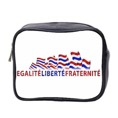 Bastille Day Mini Travel Toiletry Bag (two Sides)