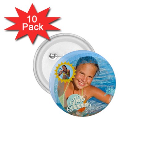 Summer By Summer Time    1 75  Button (10 Pack)    3q1f7123gpo4   Www Artscow Com Front