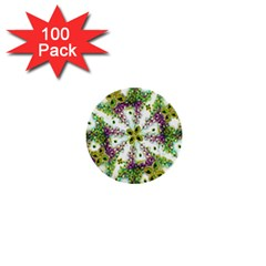 Neo Noveau Style Background Pattern 1  Mini Button (100 Pack) by dflcprints