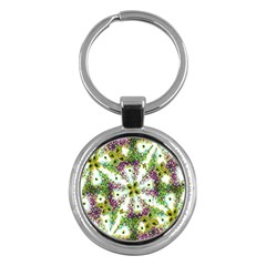 Neo Noveau Style Background Pattern Key Chain (round) by dflcprints