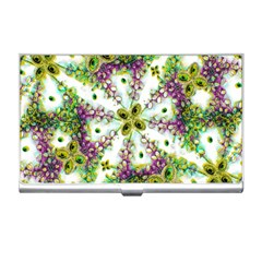 Neo Noveau Style Background Pattern Business Card Holder by dflcprints