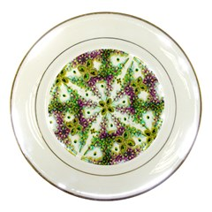 Neo Noveau Style Background Pattern Porcelain Display Plate by dflcprints
