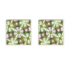 Neo Noveau Style Background Pattern Cufflinks (square) by dflcprints