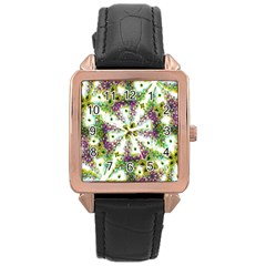 Neo Noveau Style Background Pattern Rose Gold Leather Watch  by dflcprints