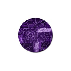 Pretty Purple Patchwork Golf Ball Marker 10 Pack by FunWithFibro