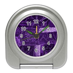 Pretty Purple Patchwork Desk Alarm Clock by FunWithFibro