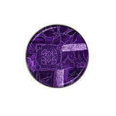 Pretty Purple Patchwork Golf Ball Marker 10 Pack (for Hat Clip) by FunWithFibro