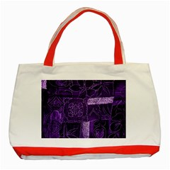 Pretty Purple Patchwork Classic Tote Bag (red) by FunWithFibro