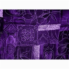 Pretty Purple Patchwork Canvas 20  X 24  (unframed) by FunWithFibro