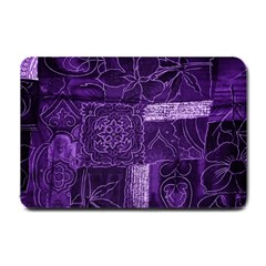 Pretty Purple Patchwork Small Door Mat by FunWithFibro
