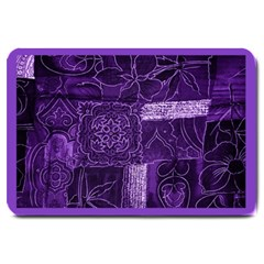 Pretty Purple Patchwork Large Door Mat by FunWithFibro