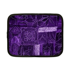 Pretty Purple Patchwork Netbook Sleeve (small) by FunWithFibro