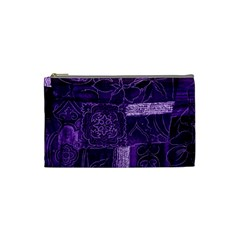 Pretty Purple Patchwork Cosmetic Bag (small) by FunWithFibro