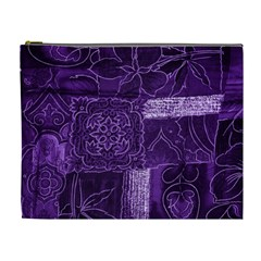 Pretty Purple Patchwork Cosmetic Bag (xl) by FunWithFibro