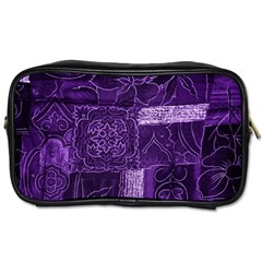 Pretty Purple Patchwork Travel Toiletry Bag (two Sides) by FunWithFibro