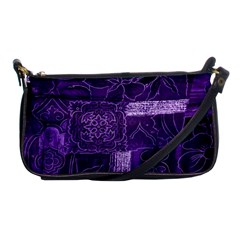 Pretty Purple Patchwork Evening Bag by FunWithFibro