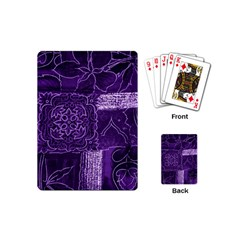 Pretty Purple Patchwork Playing Cards (mini) by FunWithFibro