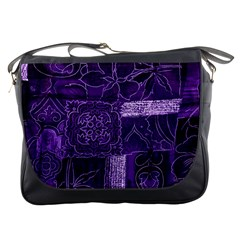 Pretty Purple Patchwork Messenger Bag by FunWithFibro