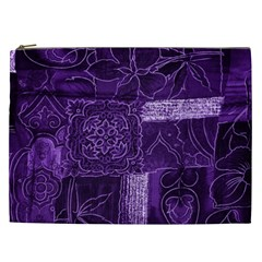 Pretty Purple Patchwork Cosmetic Bag (xxl) by FunWithFibro