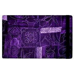 Pretty Purple Patchwork Apple Ipad 3/4 Flip Case by FunWithFibro