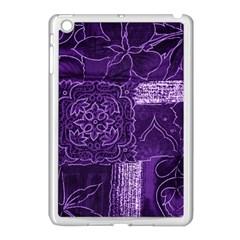 Pretty Purple Patchwork Apple Ipad Mini Case (white) by FunWithFibro
