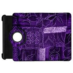 Pretty Purple Patchwork Kindle Fire Hd 7  (1st Gen) Flip 360 Case by FunWithFibro